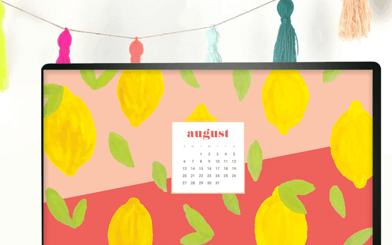 FREEBIES // AUGUST CALENDAR WALLPAPERS