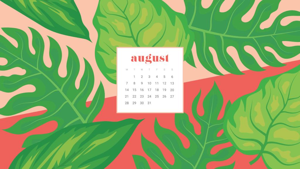 FREE August Calendar Wallpapers