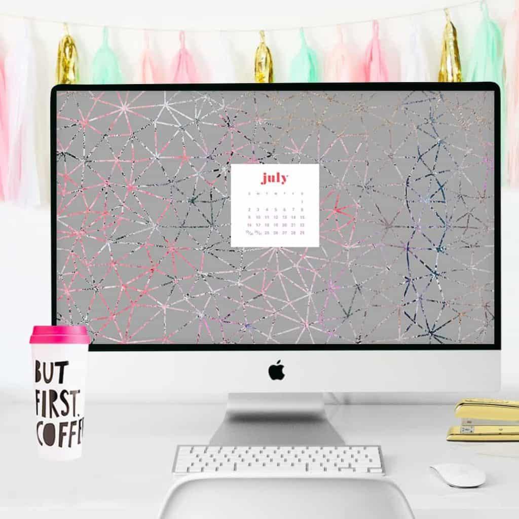Free July calendar wallpapers