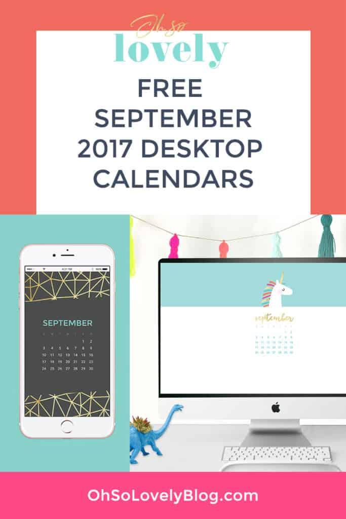FREE September wallpaper calendars
