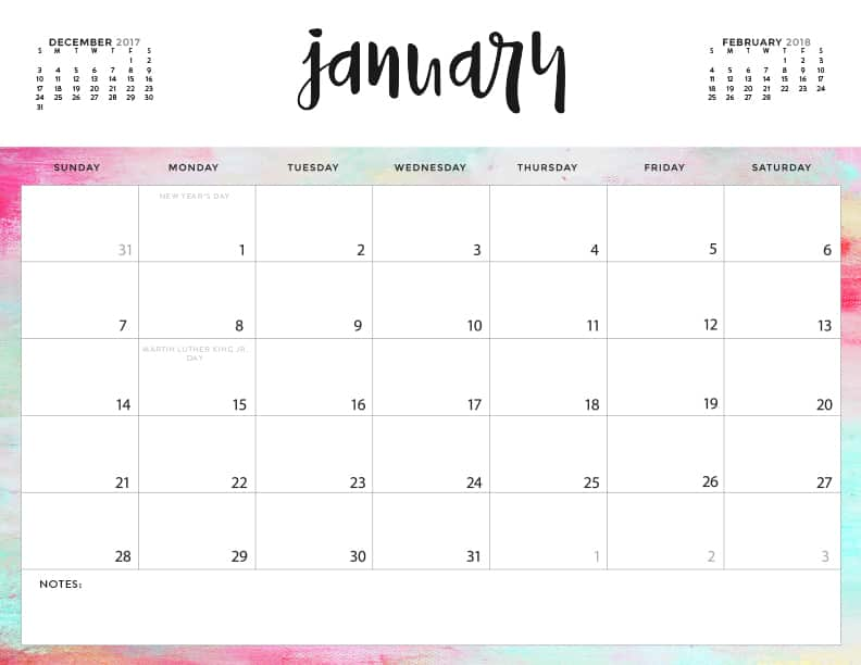 photo relating to Printable Calendars named Down load your Absolutely free 2018 Printable Calendars currently! 28