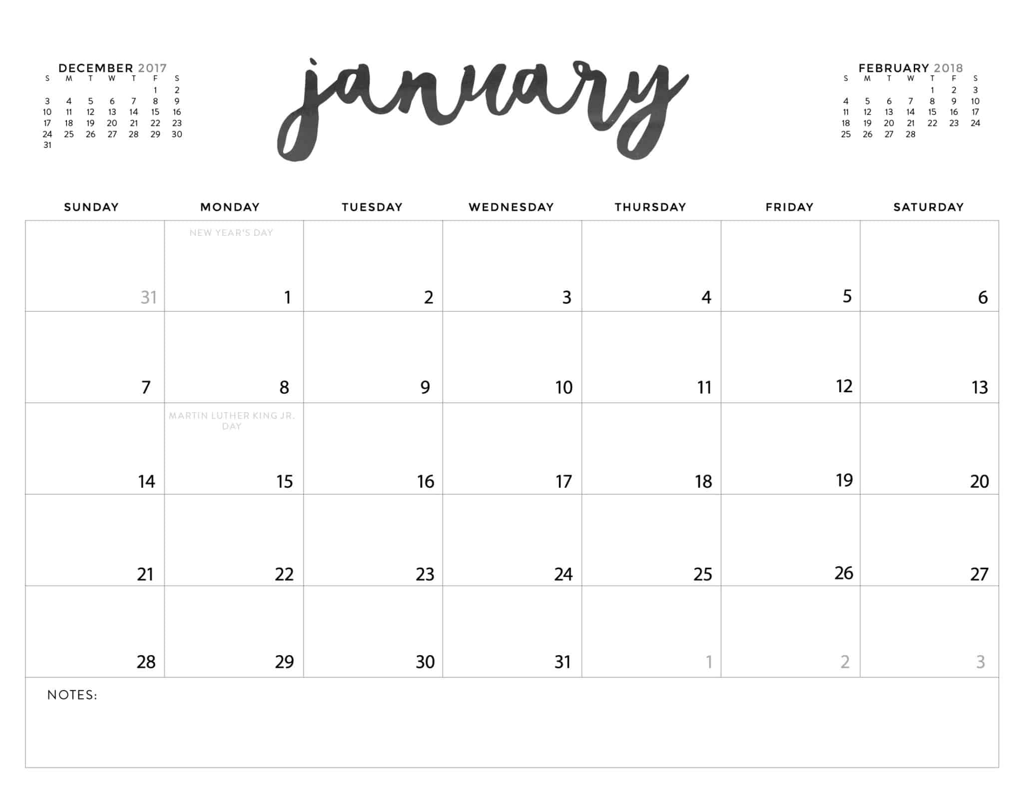 print free 2020 calendar without downloading
