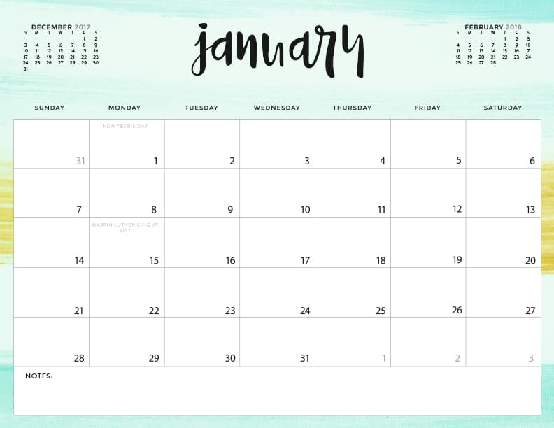 graphic about Pretty Calendars known as Obtain your Cost-free 2018 Printable Calendars at present! 28