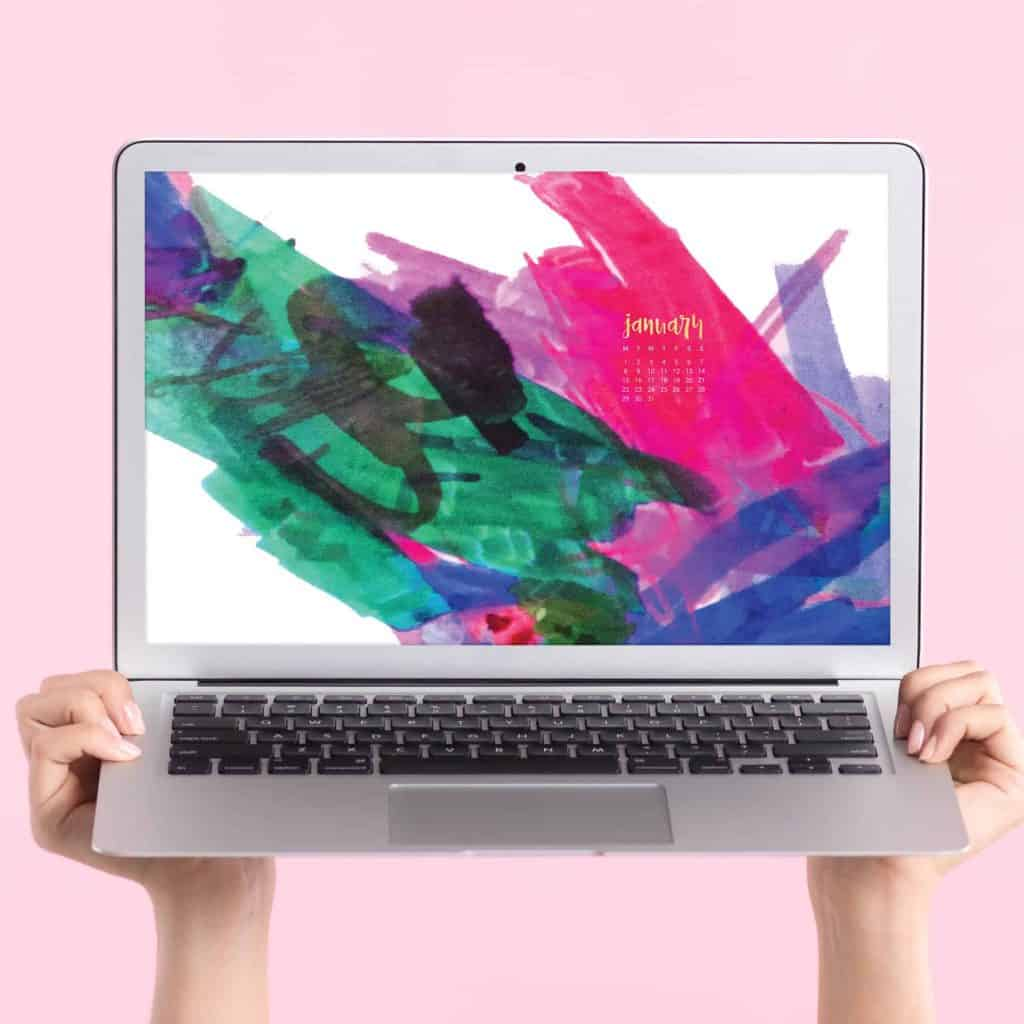 Oh So Lovely Blog shares 4 FREE January 2018 desktop wallpapers in both Sunday and Monday starts and mobile or desktop. Download yours today!