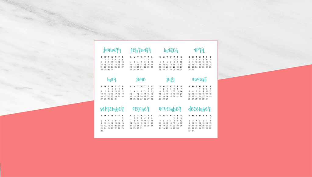 Oh So Lovely Blog Shares 11 Free 2018 Desktop Calendar