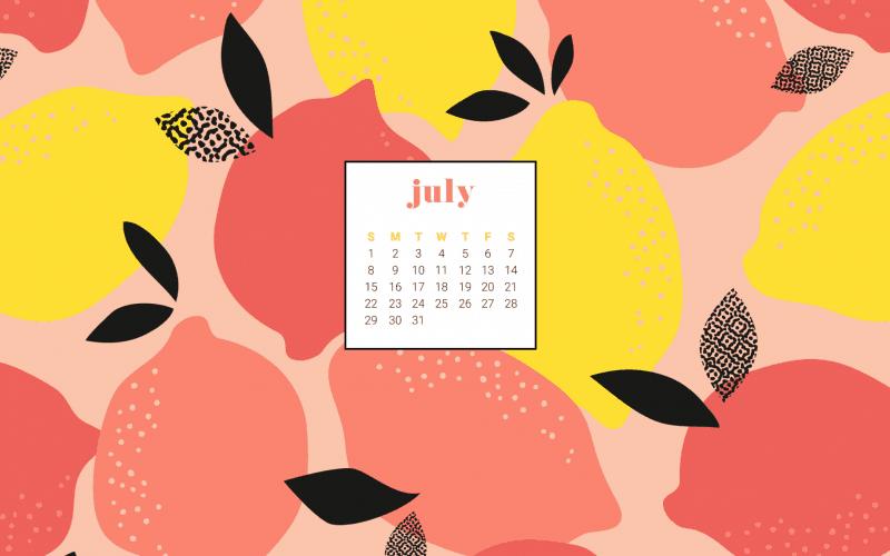FREEBIES  //  JULY 2018 CALENDAR WALLPAPERS