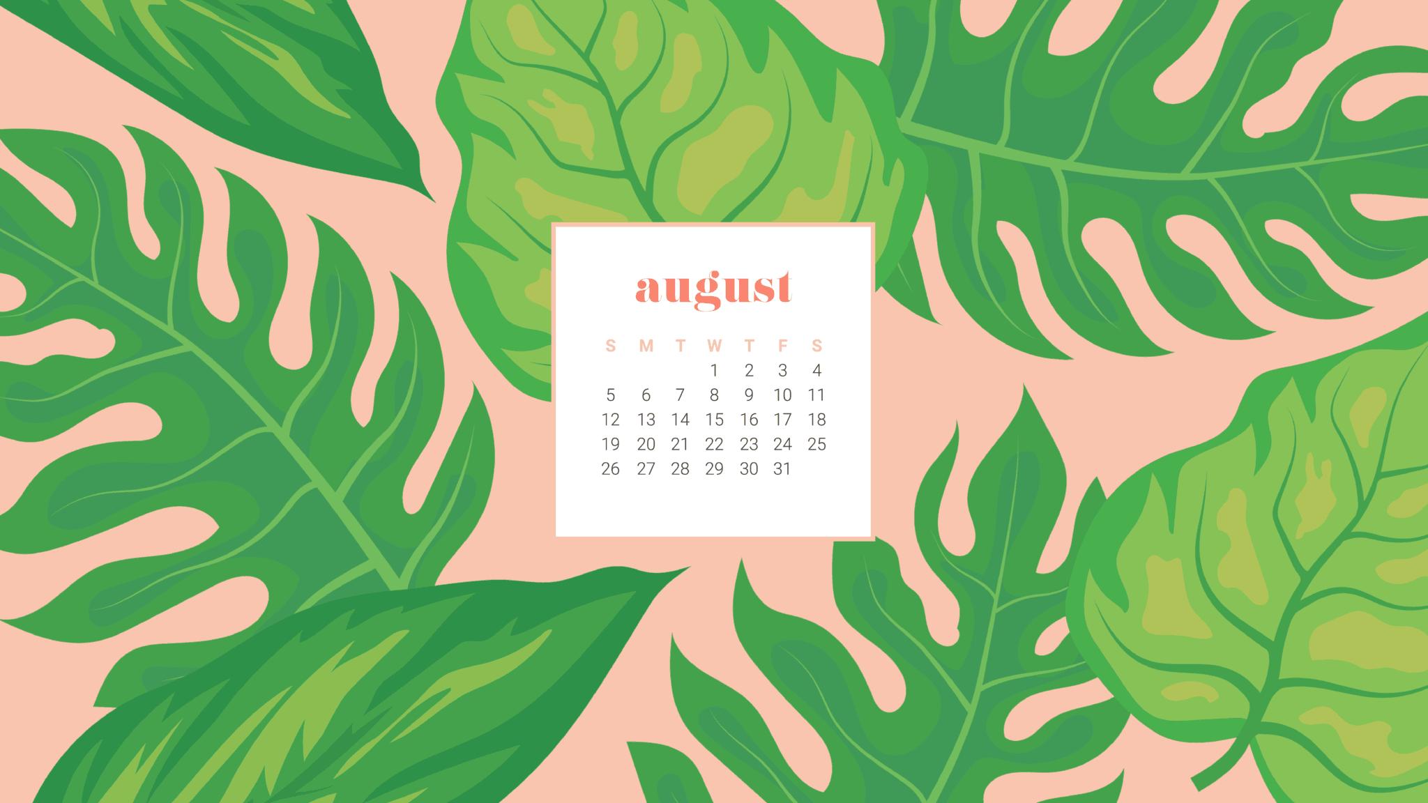 Free August Desktop Calendar Wallpapers Download Yours Today