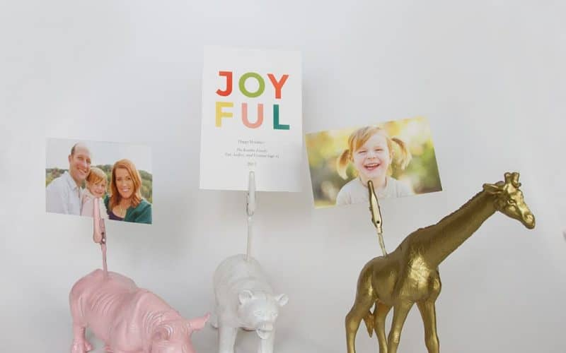 DIY  //  ANIMAL PHOTO HOLDER