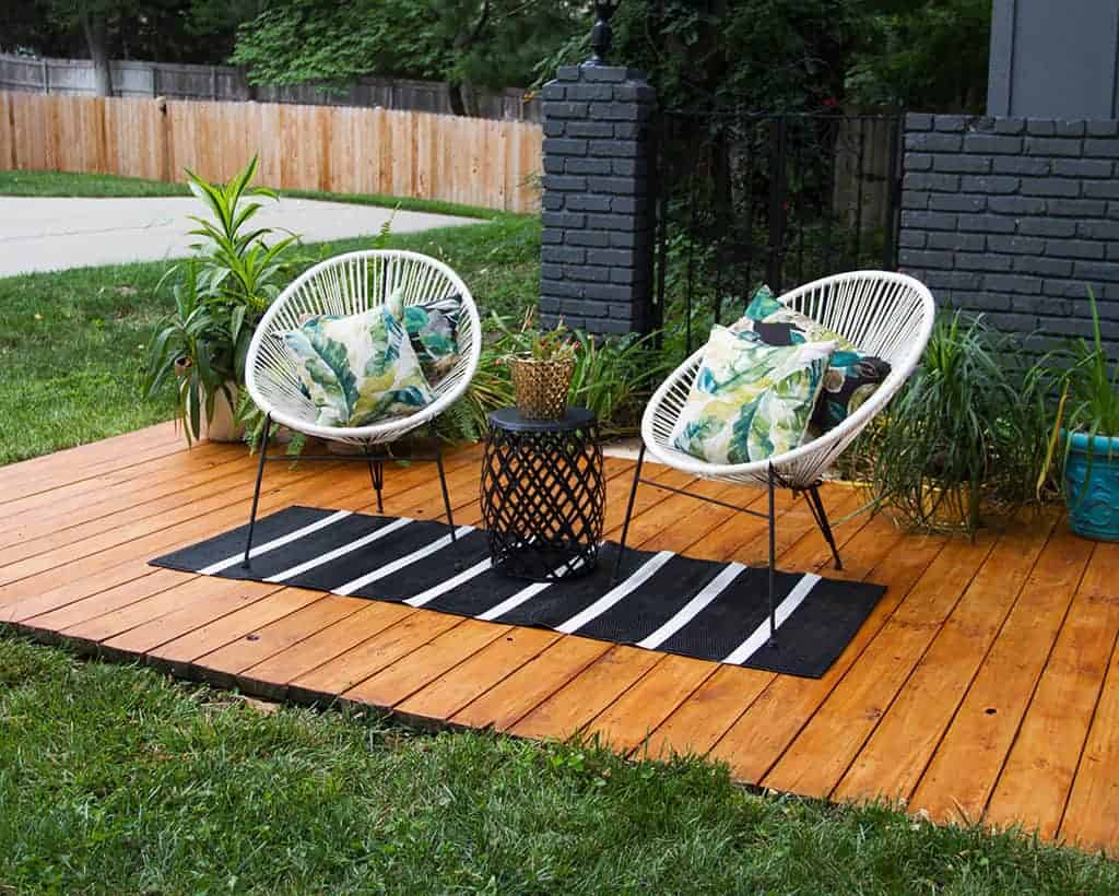 DIY front yard deck refresh