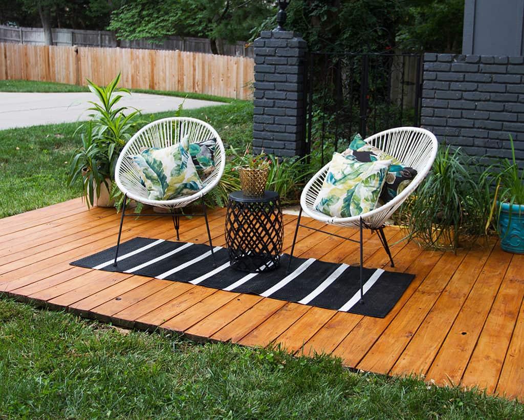 DIY front yard deck refresh