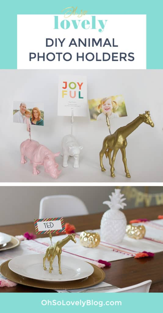 DIY animal photo holder
