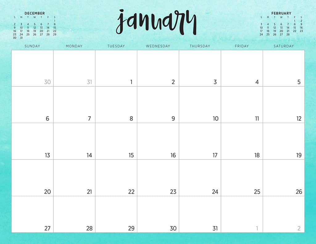 image relating to Printable Calendar Cute identified as No cost 2019 printable calendars - 46 options towards just take towards!
