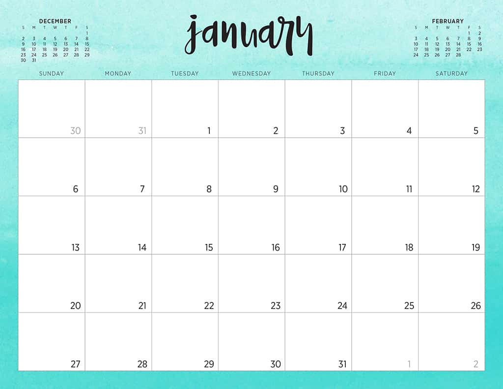 Free Calendar For 2019 Free 2019 printable calendars   46 designs to choose from!