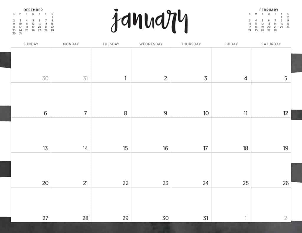 Free 2019 Printable Calendar Free 2019 printable calendars   46 designs to choose from!