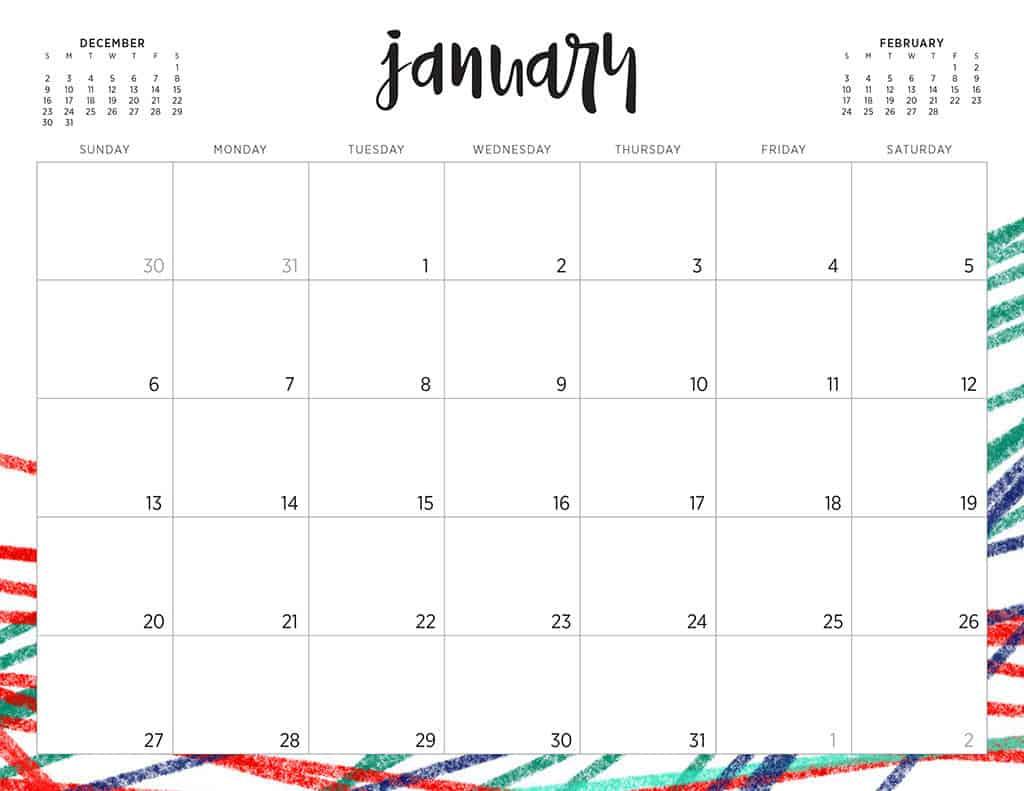 free 2019 printable calendars