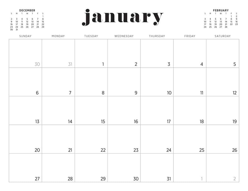 image about Monthly Printable Calendar titled No cost 2019 printable calendars - 46 strategies in direction of select towards!