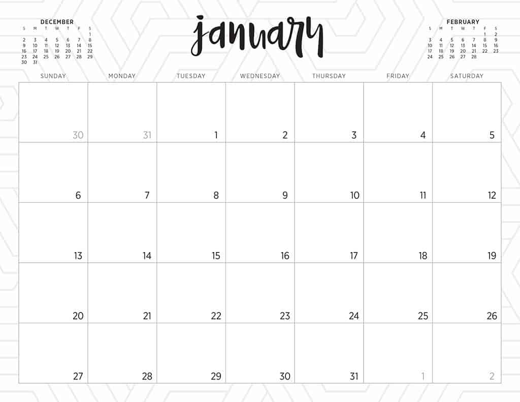 picture relating to Cute Free Printable Calendars identified as No cost 2019 printable calendars - 46 types towards get towards!