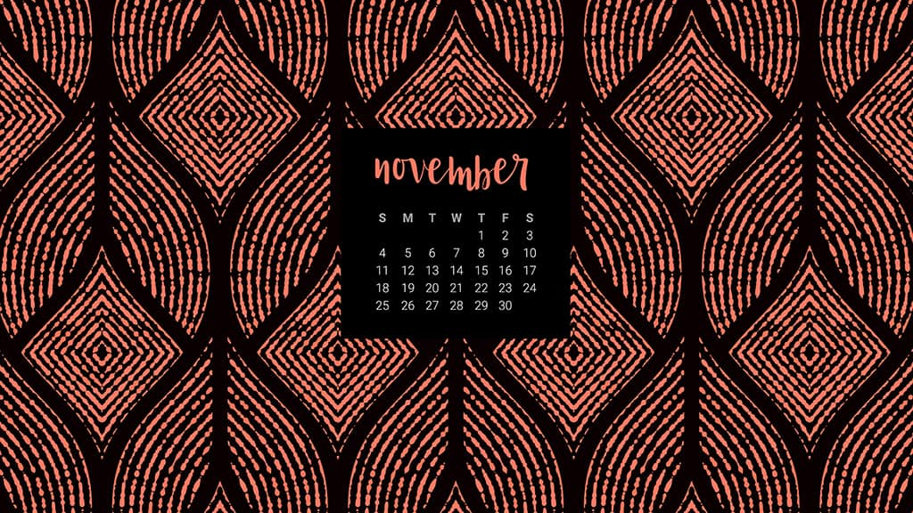 Audrey of Oh So Lovely Blog shares 10 FREE November calendar wallpapers available in both Sunday and Monday starts for both desktop and smartphone. Download yours today!