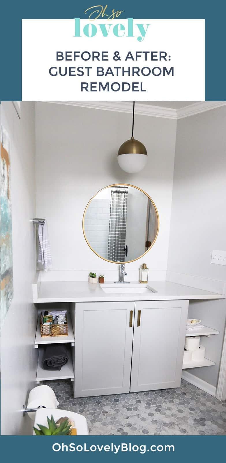 classic modern bathroom remodel