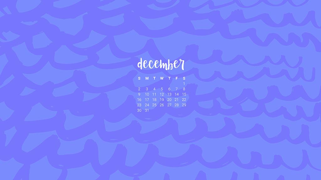 FREE December desktop wallpaper calendars