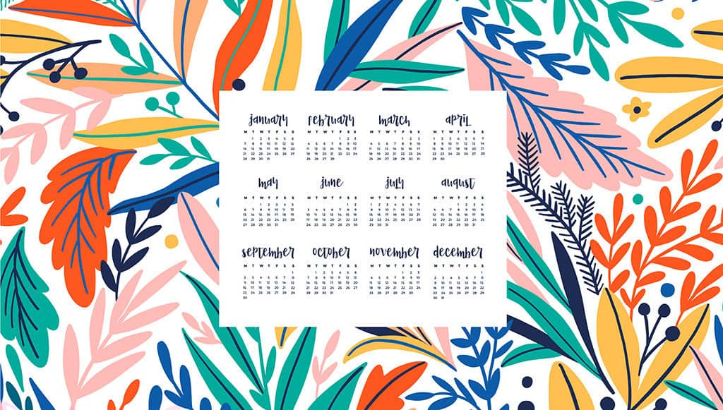 Free 2019 Desktop Calendars 12 Wallpaper Design Options