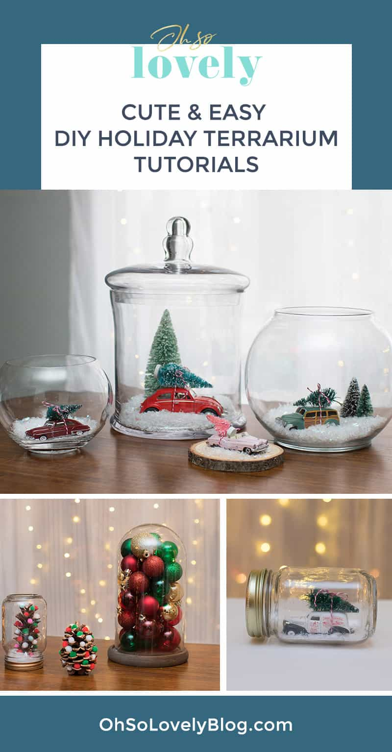 Diy Holiday Terrarium Totorials From Oh So Lovely Blog