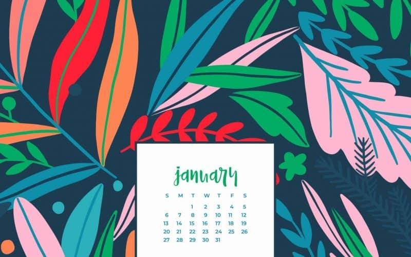 FREEBIES  //  JANUARY 2019 DESKTOP WALLPAPER CALENDARS