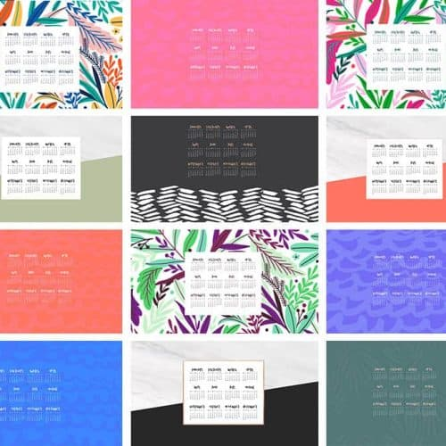FREE 2019 desktop wallpaper calendars