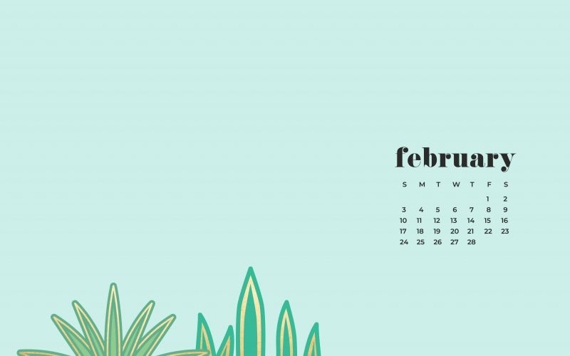 FREEBIES  //  FEBRUARY DESKTOP WALLPAPER CALENDARS