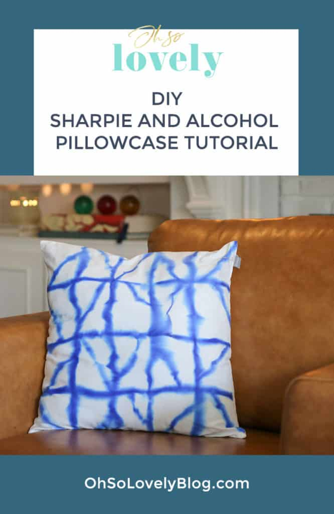 Audrey of Oh So Lovely Blog shares an easy and affordable DIYSharpie and alcohol pillowcase tutorial. It's so much fun to design your own pillowcases!