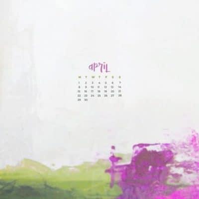 April 2019 Featured Calendar