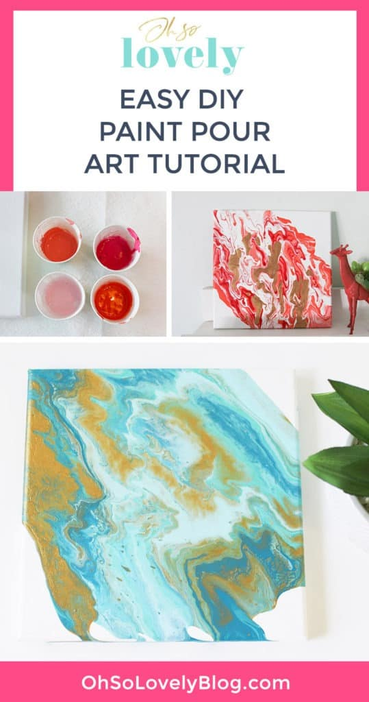 A tutorial on how to make DIY paint pour canvas art