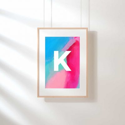 I've been busy designing my FREE monogram art printables — there are 16 options in all letters A-Z! Download yours today!