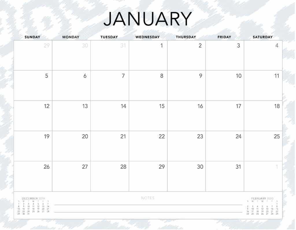 cheetah 2020 free calendar7