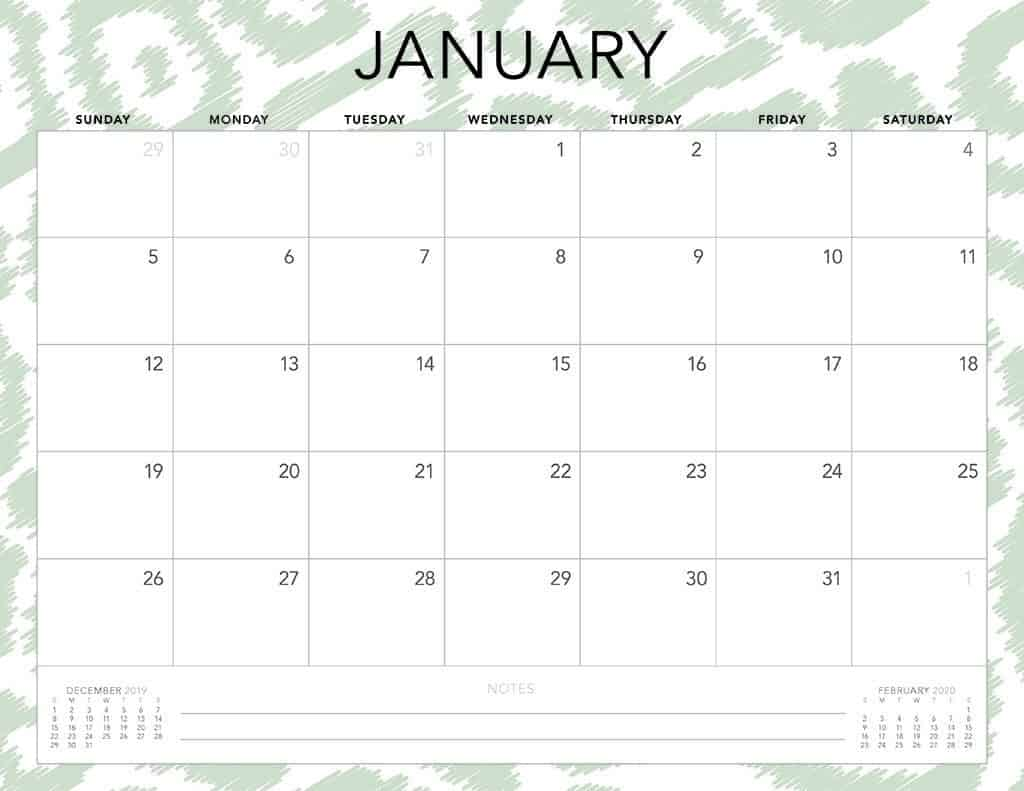 2020 Printable Monthly Calendar.Free 2020 Printable Calendars 51 Designs To Choose From