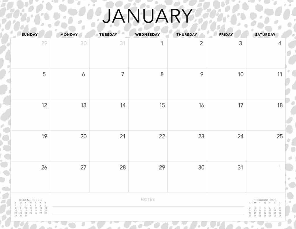 cheetah 2020 free calendar3
