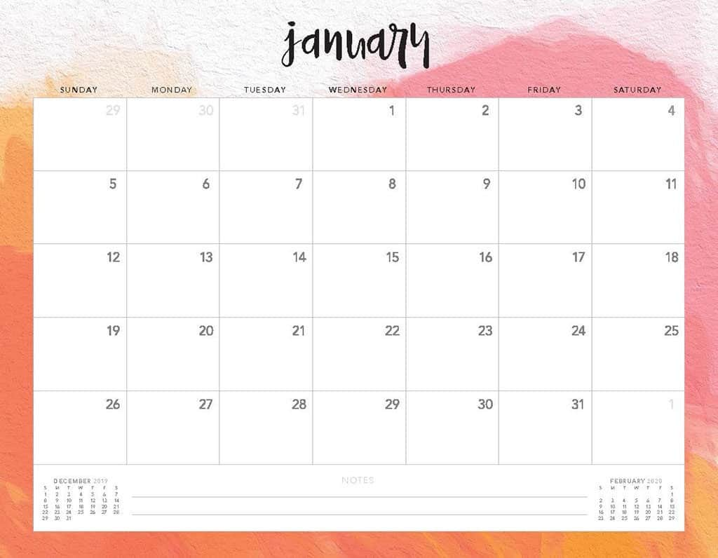 2020 Free Printable Calendar.Free 2020 Printable Calendars 51 Designs To Choose From