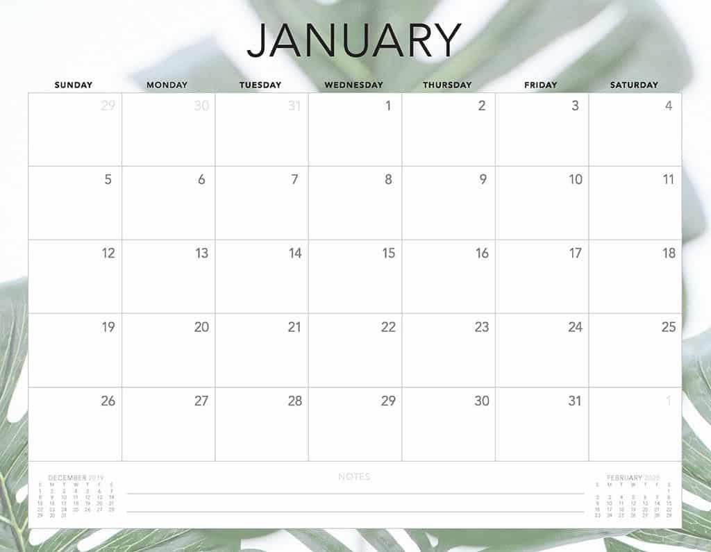 leafs 2020 free calendar