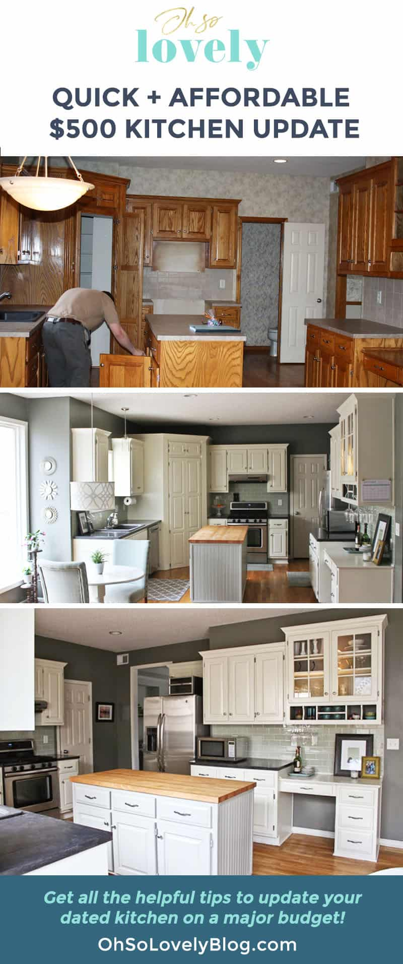 An affordable $500 kitchen remodel on a major budget