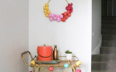 fall pumpkin bar cart