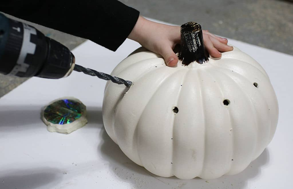 drill hole pumpkins