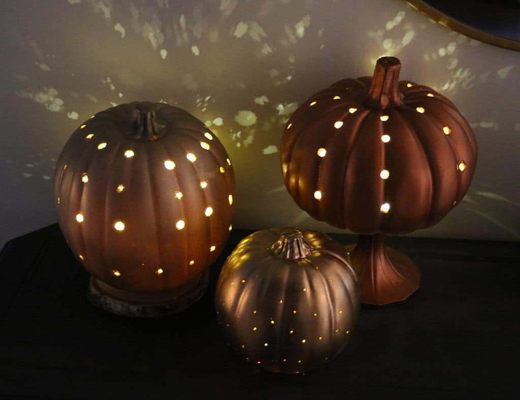 DIY luminary pumpkins are so easy to make and provide a beautiful glow!