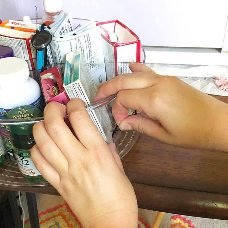 acrylic medicine organizer labels