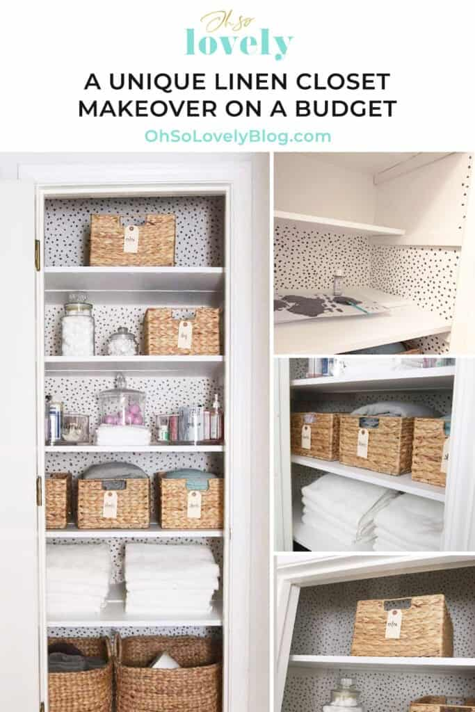 An amazing before and after linen closet makeover with helpful organization tips from Neatly Done home organizing. You have to see this one!