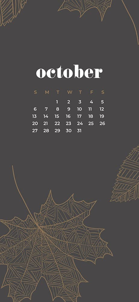 ctober 2019 desktop wallpapers for phone leaves