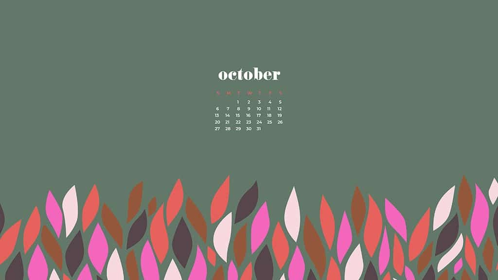 ctober 2019 desktop wallpapers leaves modern