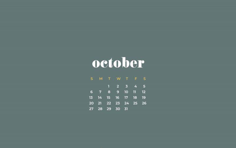 FREEBIES  //  OCTOBER 2019 DESKTOP WALLPAPERS