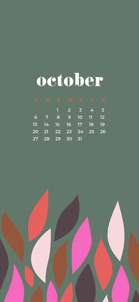 ctober 2019 desktop wallpapers for phone modern leaves
