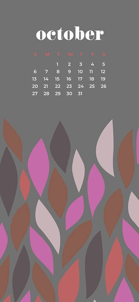 October 2019 desktop wallpapers for phone modern leaves