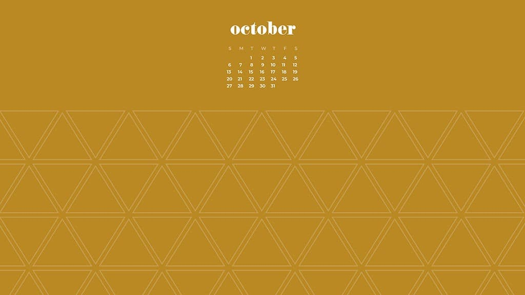 FREE October 2019 desktop wallpapers mustard